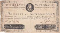 France 90 Livres Louis XVI - 29-09-1790 Série F - Sign. Lefebvre - PTB