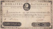 France 90 Livres Louis XVI - Faux assignat - 19-06-1791 - PTB