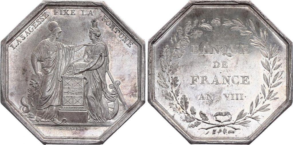 France Banque de France  - An VIII -  Poinçon main Argent