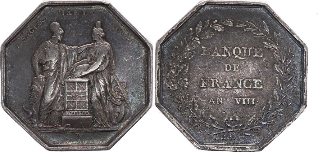 France Banque de France - An VIII  - Main Argent