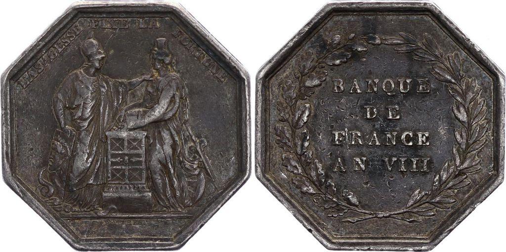 France Banque de France - An VIII  - Sans Poinçon