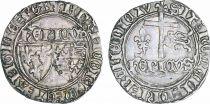 France Blanc aux Ecus, Henri VI de Lancastre (1421-1471) - Argent