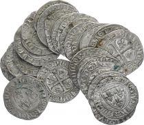 France Blanc Guenar Charles VI - 1385-1417 - Silver - VF