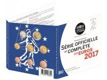 France BU Set 2017-  8 Euros coins 1 cent to 2  Euros