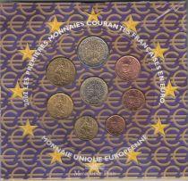 France BU Set 8 coins - 2002 in Euros