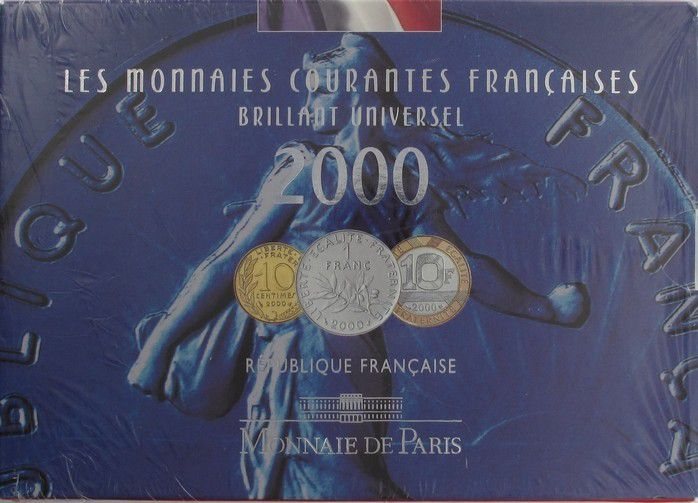 France BU.2000 Coffret BU 2000 - Monnaies Courantes
