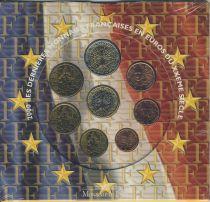 France BU.2000 Monnaie de Paris BU Set year 2000 in Euros