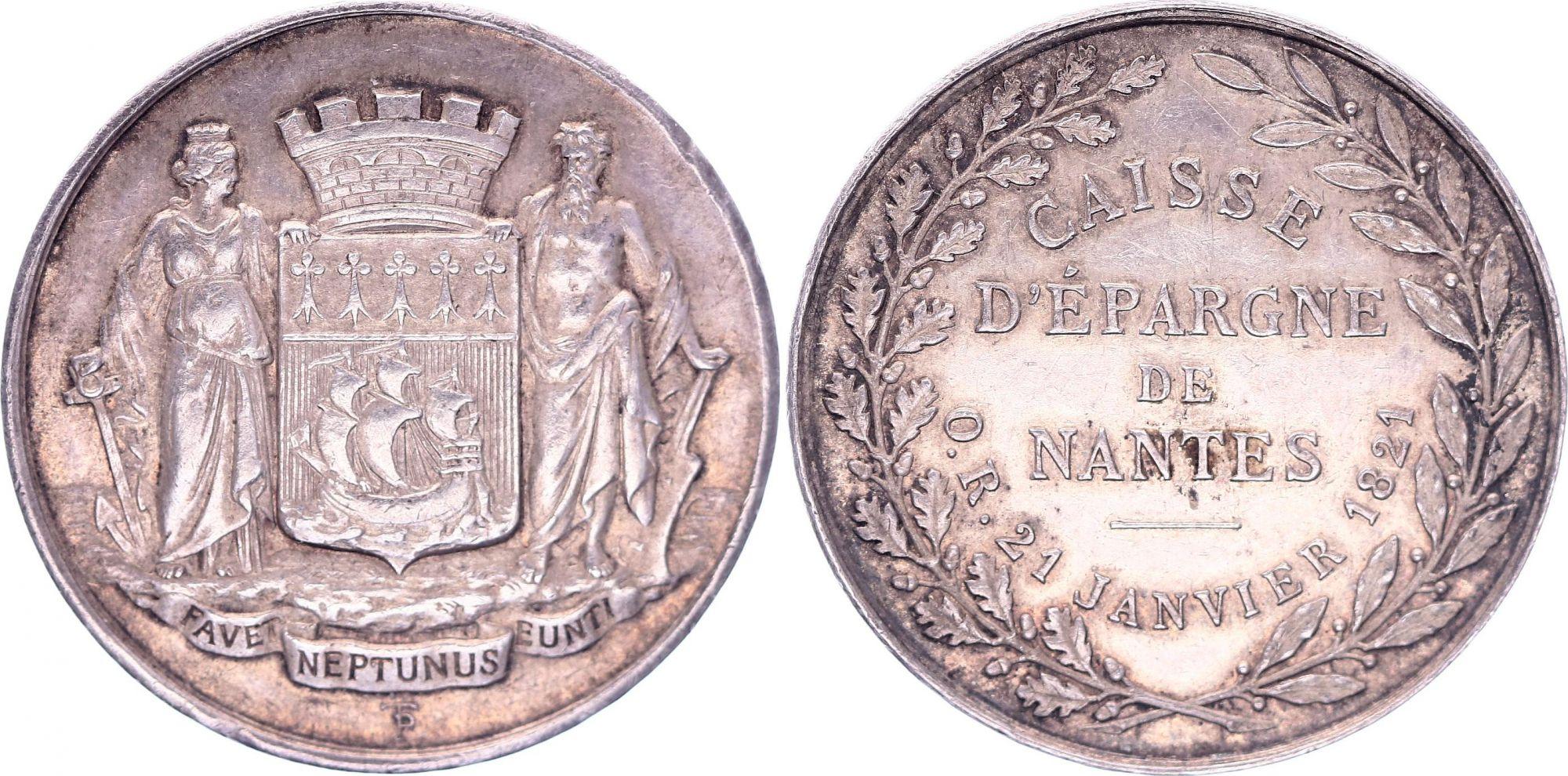 France Caisse d\'épargne de Nantes - 1880 - Corne Argent