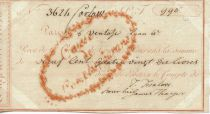 France Caisse de Comptes Courants Receipt - Year 6 (1797-1798) - VF
