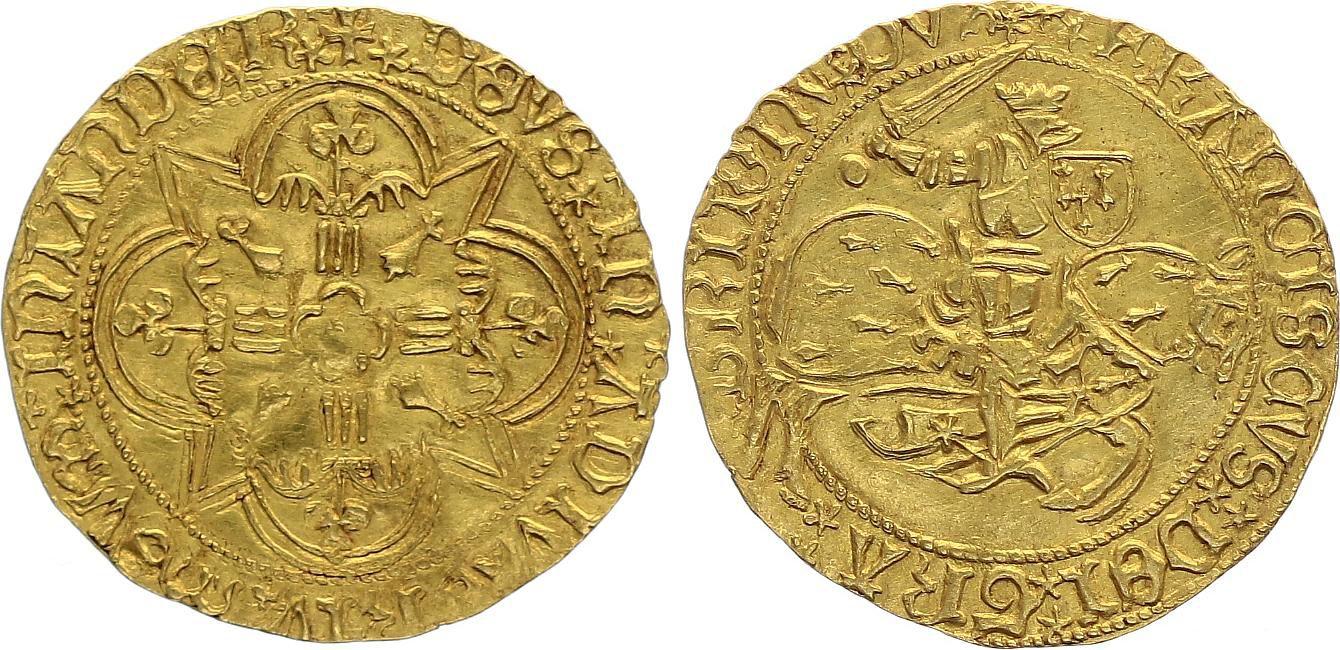 France Cavalier d\'or, François II 1458-1488 - Duché de Bretagne - Rennes