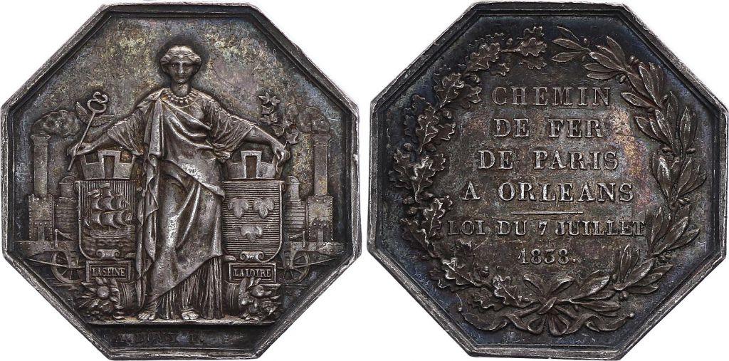 France Chemin de fer Paris Orléans - 1838