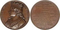 France Clotaire III  -  Série des rois de France par Caqué - 1840