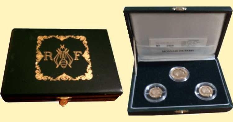 France Coff.1993 GAD.825 Coffret 3 pièces or Louis Napoléon Bonaparte - 1993