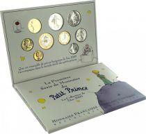 France Coffret BU 2000 - Petit Prince - Saint Exupéry - 9 monnaies en Francs