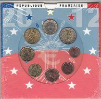 France Coffret BU 2012 -  8 Monnaies