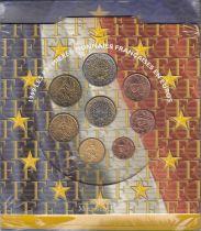 France Coffret BU 8 monnaies 1999 - Premiers Euros