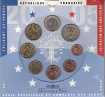 France Coffret BU France 2005 - 8 monnaies en euro