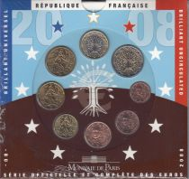 France Coffret BU France 2008 - 8 monnaies en euro