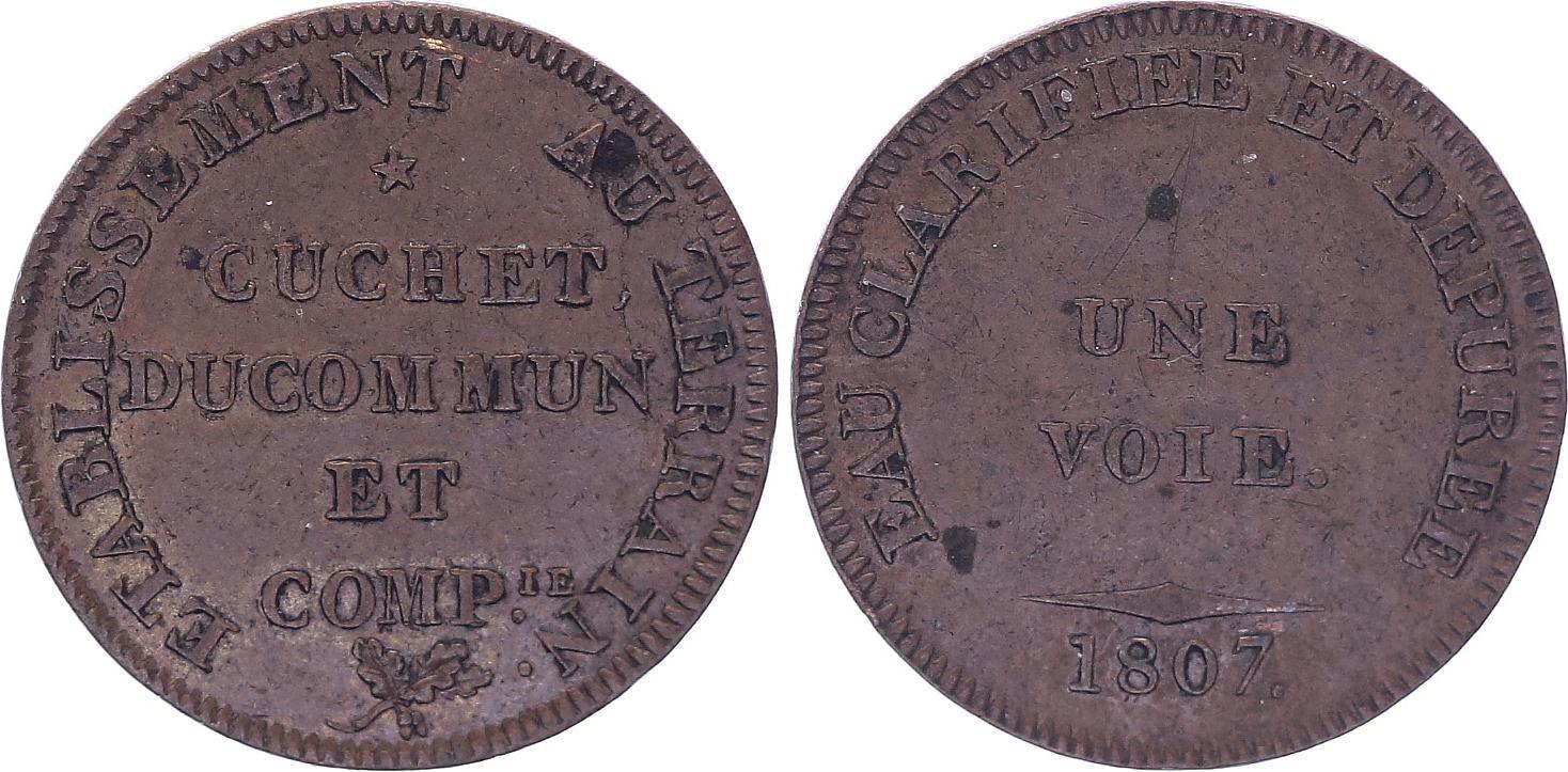 France Cuchet DuCommun et Compagnie - 1807 - Eau Clarifiée - TTB+