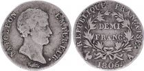 France Demi Franc Napoléon I - 1806 A Paris