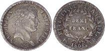 France Demi Franc Napoléon I - 1808 BB Strasbourg