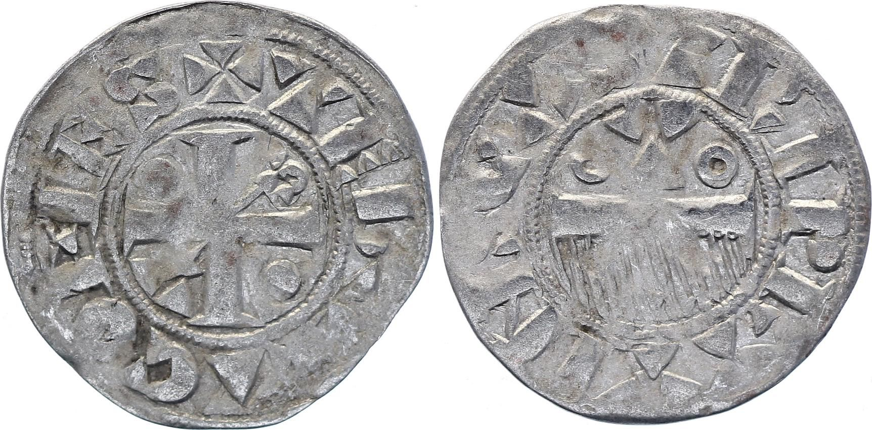 France Denier dit au Peigne - Henri II - Comté de Provins - Champagne - 1180-1197