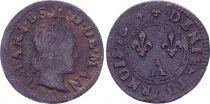 France Denier Tournois,  Charles II de Gonzague  - 1654
