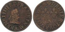 France Denier tournois - Henri IV - 1606 A