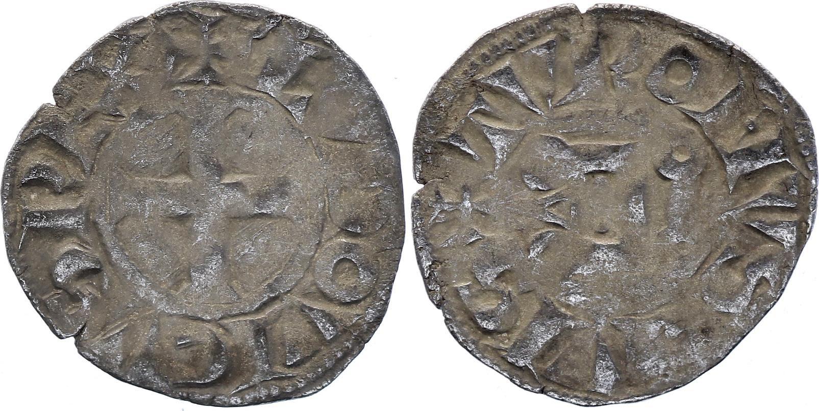 France Denier Tournois, Louis IX - Saint Louis (1223-1250) -