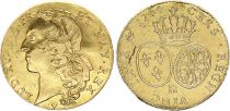 France Double Louis d\'or, Louis XV - 1744 BB Strasbourg - Gold