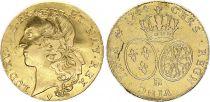 France Double Louis d\'or, Louis XV au Bandeau - 1744 BB Strasbourg