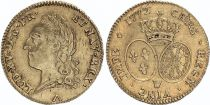 France Double Louis d\'or, Louis XV old head - 1772 W Lille - Gold