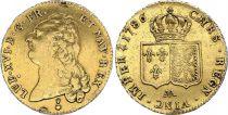 France Double Louis d\'or, Louis XVI - 1786 AA - Metz - VF - GOLD