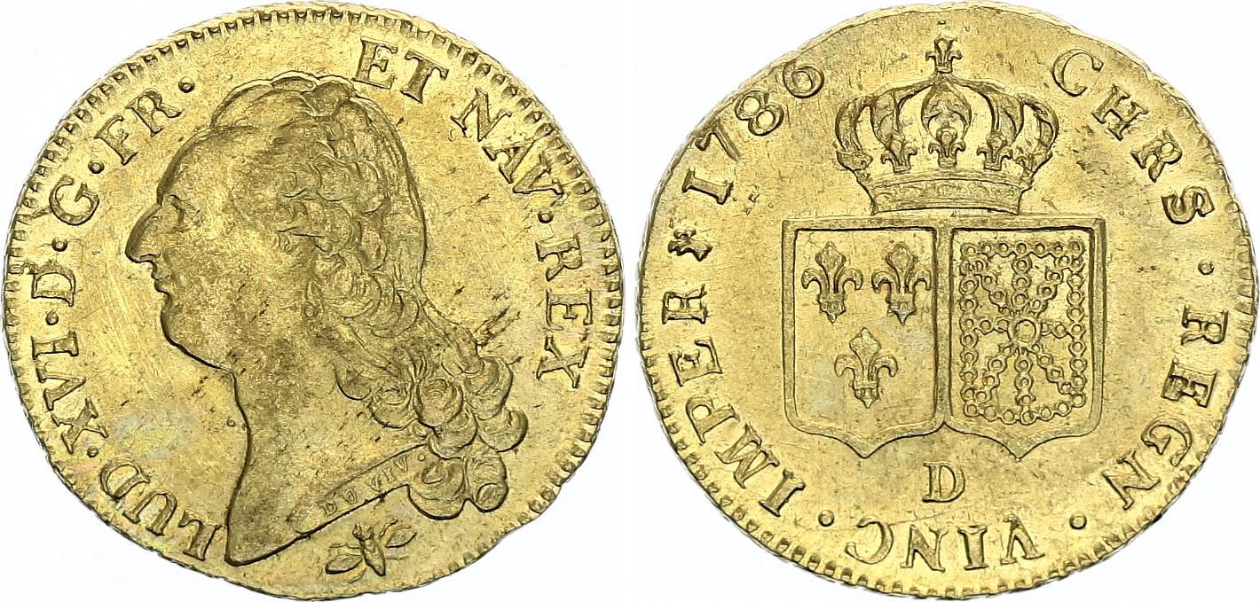 France Double Louis d\'or, Louis XVI - 1786 D Lyon