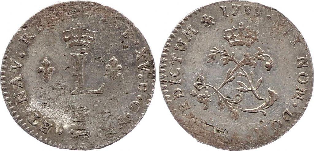 France Double Sol Louis XV - 1739 A Paris