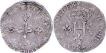 France Double sol parisis - Argent - 1578 S Reims