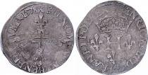 France Double sol parisis - Argent - 1578 X Amiens