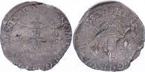 France Double sol parisis - Argent - 1580 B Rouen