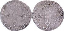 France Double sol parisis - Argent - 1581 D Lyon