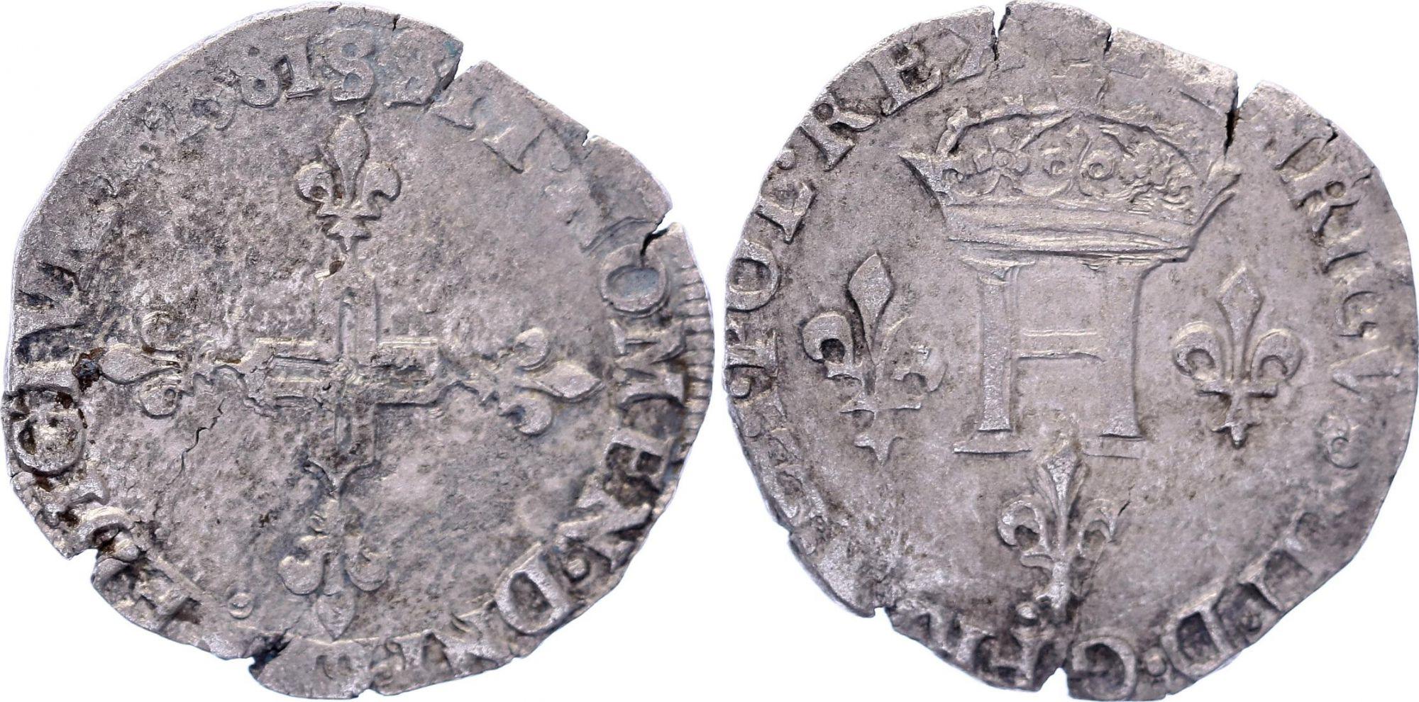 France Double sol parisis - Argent - 1581 S Reims