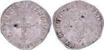 France Double sol parisis - Argent - 1586 A Paris