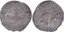 France Double sol parisis - Silver - 1580 B Rouen