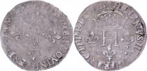 France Double sol parisis - Silver - 1581 D Lyon