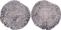 France Double sol parisis - Silver - 1581 S Reims