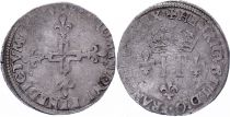 France Double sol parisis - SIlver - 1584 A Paris