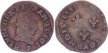 France Double tournois - Henri III - 1581 F Angers