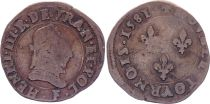 France Double tournois - Henri III - 1581 F Angers