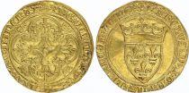 France Ecu d\'Or à la Couronne, Charles VI (1380-1422) - TTB - Or - Tournai