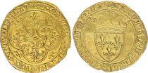 France Ecu d\'Or à la Couronne, Charles VI (1380-1422) - TTB - Or