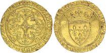 France Ecu d\'Or à la Couronne, Charles VI (1380-1422) - TTB -Or - Montpellier